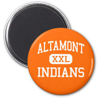 Altamont - Indians - High - Altamont Illinois 6 Cm Round Magnet