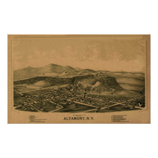 Altamont NY 1889 Poster