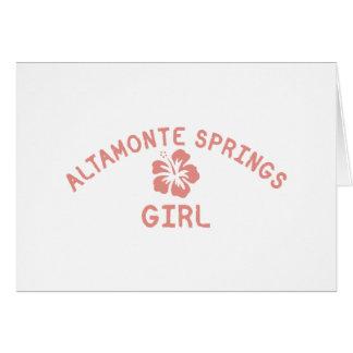 Altamonte Springs Pink Girl Greeting Cards