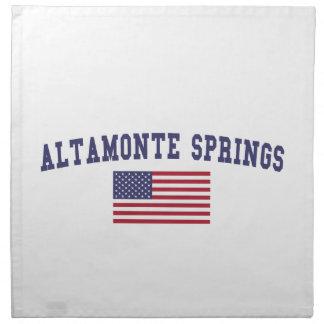 Altamonte Springs US Flag Cloth Napkin