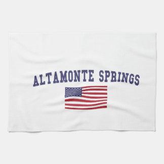 Altamonte Springs US Flag Hand Towels