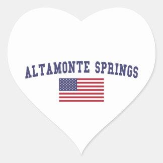 Altamonte Springs US Flag Heart Sticker