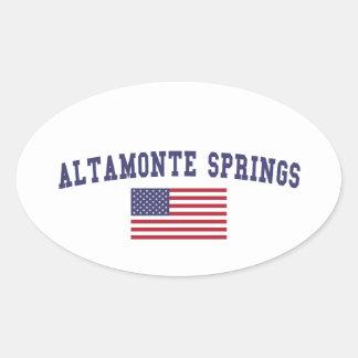 Altamonte Springs US Flag Oval Sticker