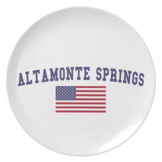 Altamonte Springs US Flag Plates