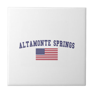 Altamonte Springs US Flag Small Square Tile