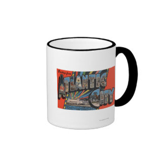 Altantic City New Jersey - Large Letter Coffee Mug