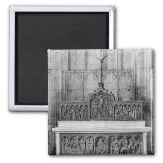 Altar and two altarpieces decorated fridge magnet