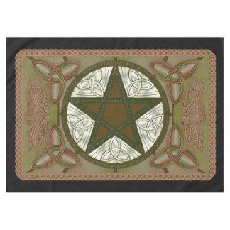 Altar Cloth w/ Green Pentagram & Triquatras