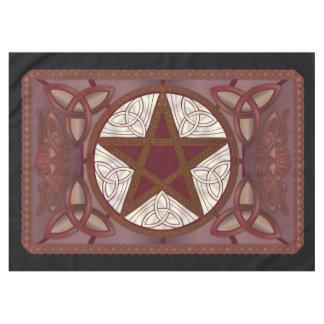 Altar Cloth w/ Red Pentagram & Triquatras