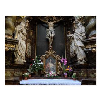 Altar in Prague Postcard