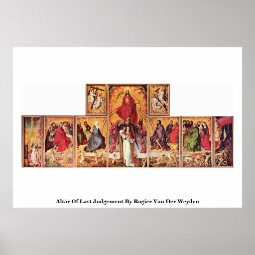 Altar Of Last Judgement By Rogier Van Der Weyden Poster