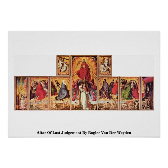 Altar Of Last Judgement By Rogier Van Der
