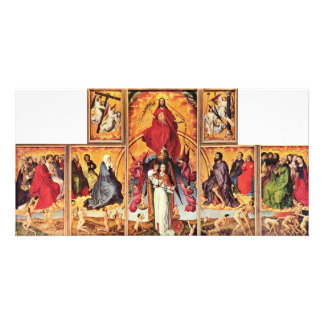 Altar Of The Last Judgment In Beaune Overview Open Photo Card