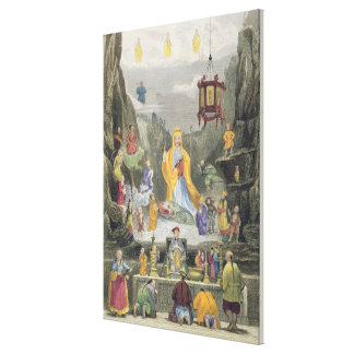 Altar Piece in the 'Yun Stzoo Stzee' Temple, Ting- Canvas Print