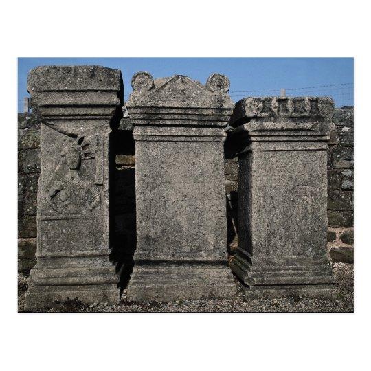 Altar stones, Mithraic Roman Temple, Hadrian's Wal Postcard