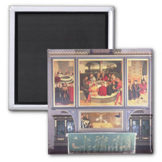 Altar with a Triptych depicting Square Magnet