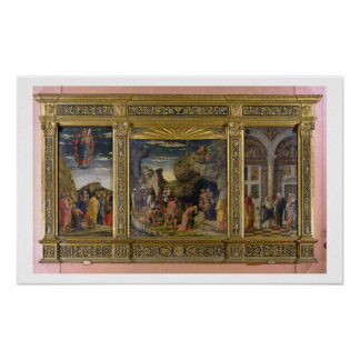 Altarpiece depicting the Ascension, the Adoration Poster