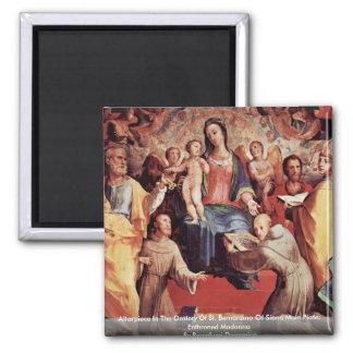 Altarpiece In The Oratory Of St. Bernardino Fridge Magnets