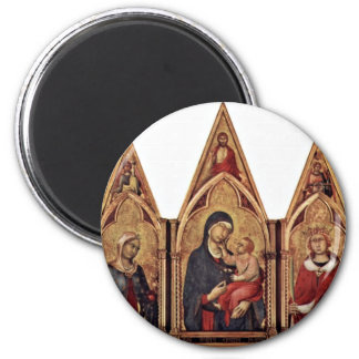 Altarpiece Of Boston'S Maestetã With Blessing And 6 Cm Round Magnet