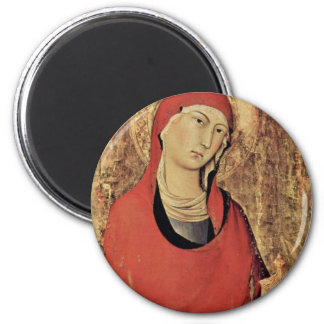 Altarpiece Of Orvieto Scene Maestetã S And Saints Refrigerator Magnets