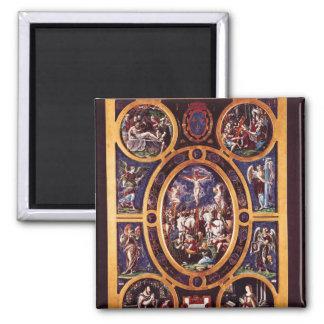 Altarpiece of Sainte-Chapelle Square Magnet