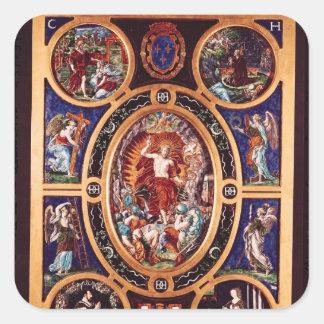 Altarpiece of Sainte-Chapelle Square Sticker