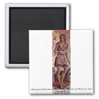 Altarpiece Of San Silvestro In Montappone Fridge Magnet