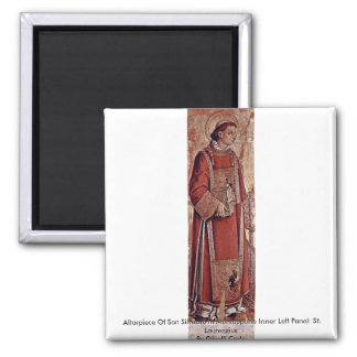 Altarpiece Of San Silvestro In Montappone Refrigerator Magnets