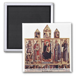 Altarpiece Of San Silvestro In Montappone Overview Fridge Magnets