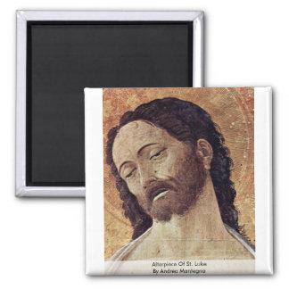 Altarpiece Of St. Luke  By Andrea Mantegna Refrigerator Magnet