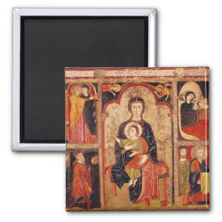 Altarpiece of St. Maria de Avila Square Magnet