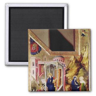 Altarpiece of the Chartreuse de Champmol 2 Square Magnet