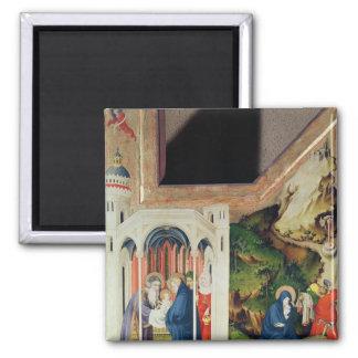 Altarpiece of the Chartreuse de Champmol Square Magnet