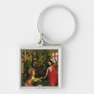 Altarpiece of the Dominicans Silver-Colored Square Key Ring