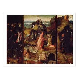 Altarpiece of the Hermits (oil on panel) Postcard
