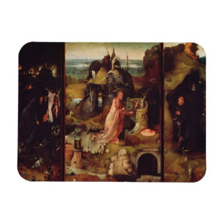 Altarpiece of the Hermits (oil on panel) Rectangle Magnet