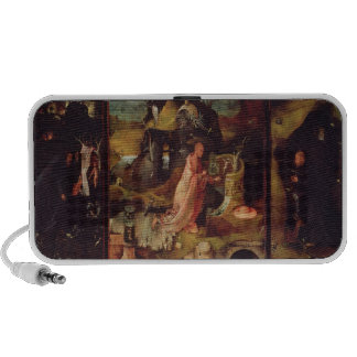 Altarpiece of the Hermits (oil on panel) iPhone Speaker