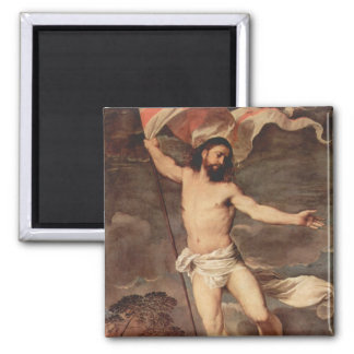 Altarpiece of the Resurrection Square Magnet