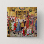 Altarpiece of the Seven Joys of the Virgin 15 Cm Square Badge
