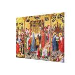 Altarpiece of the Seven Joys of the Virgin Canvas Print