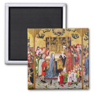Altarpiece of the Seven Joys of the Virgin Square Magnet
