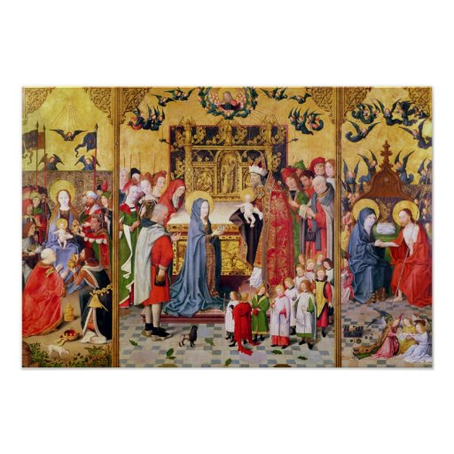 Altarpiece of the Seven Joys of the Virgin Poster