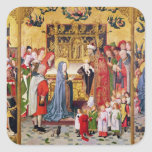 Altarpiece of the Seven Joys of the Virgin Square Sticker