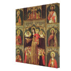 Altarpiece of the Virgin of the Rosary, c.1500 Canvas Print