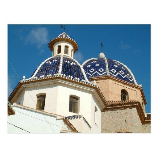 Altea Church postcard