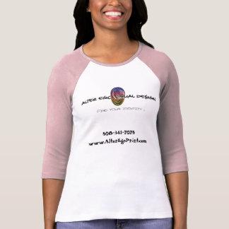 Alter Ego Print - Ladies White/Pink T-Shirt