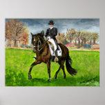 Alter Real Dressage Horse Portrait Poster