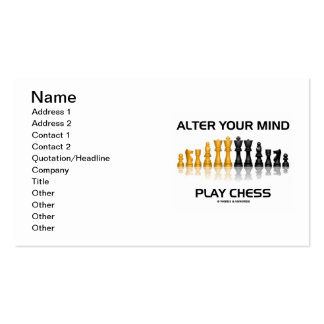 Alter Your Mind Play Chess (Reflective Chess Set) Pack Of Standard Business Cards