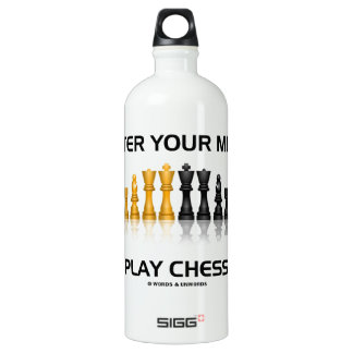 Alter Your Mind Play Chess (Reflective Chess Set) SIGG Traveller 1.0L Water Bottle