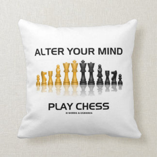 Alter Your Mind Play Chess (Reflective Chess Set) Throw Cushion